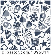 Clipart Of A Seamless Background Pattern Of Police Icons Royalty Free Vector Illustration by Vector Tradition SM