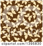 Seamless Background Pattern Of Butterfly