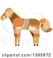 Clipart Of A Flat Design Horse Royalty Free Vector Illustration by Vector Tradition SM