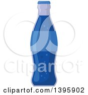 Clipart Of A Blue Soda Bottle Royalty Free Vector Illustration