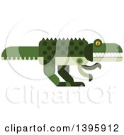 Clipart Of A Flat Design Crocodile Or Dinosaur Royalty Free Vector Illustration by Vector Tradition SM