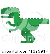 Clipart Of A Flat Design Dinosaur Royalty Free Vector Illustration by Vector Tradition SM