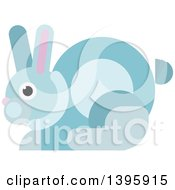 Clipart Of A Flat Design Rabbit Royalty Free Vector Illustration by Vector Tradition SM