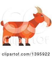 Clipart Of A Flat Design Goat Royalty Free Vector Illustration by Vector Tradition SM