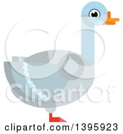 Clipart Of A Flat Design Goose Royalty Free Vector Illustration by Vector Tradition SM