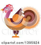 Clipart Of A Flat Design Turkey Royalty Free Vector Illustration by Vector Tradition SM