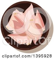 Clipart Of A Small Bowl Of Culinary Spices Garlic Royalty Free Vector Illustration