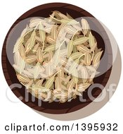 Clipart Of A Small Bowl Of Culinary Spices Fennel Royalty Free Vector Illustration