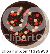 Clipart Of A Small Bowl Of Culinary Spices Mixed Peppercorns Royalty Free Vector Illustration
