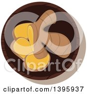 Clipart Of A Small Bowl Of Culinary Spices Ginger Root Royalty Free Vector Illustration