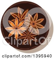 Clipart Of A Small Bowl Of Culinary Spices Star Anise Royalty Free Vector Illustration