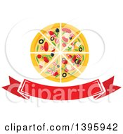 Pizza Over A Banner