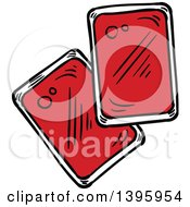 Clipart Of Sketched Ketchup Containers Royalty Free Vector Illustration