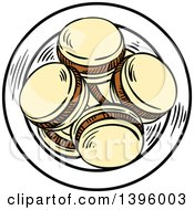 Clipart Of Sketched Argentine Alfajor Cookies Royalty Free Vector Illustration by Vector Tradition SM