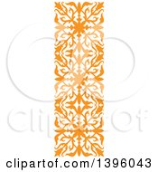 Orange Vintate Ornate Flourish Design Element Border