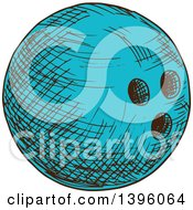 Poster, Art Print Of Sketched Bowling Ball