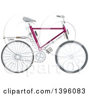 Clipart Of A Bicycle With Visible Mechanical Parts Royalty Free Vector Illustration