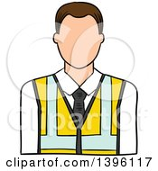 Clipart Of A Sketched Cacuasian Male Engineer Royalty Free Vector Illustration by Vector Tradition SM