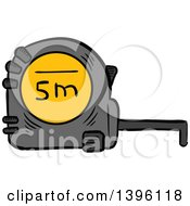 Clipart Of A Sketched Measuring Tape Royalty Free Vector Illustration by Vector Tradition SM