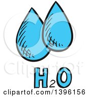 Clipart Of Sketched Water Drops Royalty Free Vector Illustration by Vector Tradition SM
