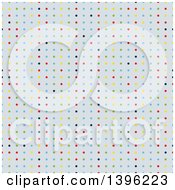 Clipart Of A Seamless Pattern Background Of Colorful Polka Dots Royalty Free Vector Illustration