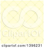 Clipart Of A Seamless Pattern Background Of Diamond Shaped Tiles In Yellow Royalty Free Vector Illustration