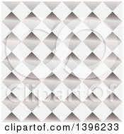 Clipart Of A Seamless Pattern Background Of Shiny Diamonds Royalty Free Vector Illustration