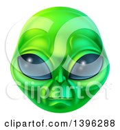 Clipart Of A Green Alien Face Royalty Free Vector Illustration by AtStockIllustration