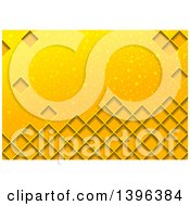 Clipart Of A Background Of Diamonds On Yellow With Bubbles Royalty Free Vector Illustration by dero