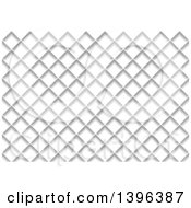 Clipart Of A Grayscale Diamond Pattern Background Royalty Free Vector Illustration