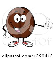 Clipart Of A Cartoon Coffee Bean Mascot Character Giving A Thumb Up Royalty Free Vector Illustration by Hit Toon
