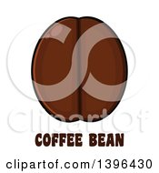 Clipart Of A Cartoon Coffee Bean Over Text Royalty Free Vector Illustration