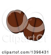 Clipart Of Cartoon Coffee Beans Royalty Free Vector Illustration by Hit Toon