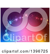 Clipart Of A Magic Swoosh Over A Colorful Background Royalty Free Vector Illustration by dero