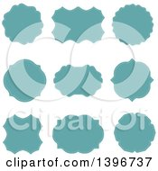 Set Of Turquoise Labels