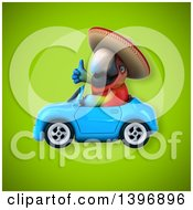 Clipart Of A 3d Mexican Scarlet Macaw Parrot Royalty Free Illustration