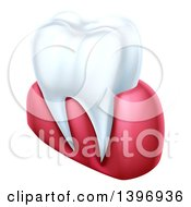 Clipart Of A 3d Human Tooth And Gums Royalty Free Vector Illustration