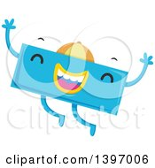 Clipart Of A Dancing Blue Monster Math Subtraction Symbol Character Royalty Free Vector Illustration
