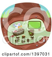 Clipart Of A Classroom Under A Tree Royalty Free Vector Illustration