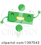 Clipart Of A Dancing Green Monster Division Addition Symbol Character Royalty Free Vector Illustration