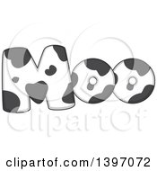 Clipart Of A Farm Animal Sound Of Moo In A Cow Pattern Royalty Free Vector Illustration by BNP Design Studio