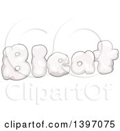 Clipart Of A Farm Animal Sound Of Bleat With Sheep Wool Royalty Free Vector Illustration