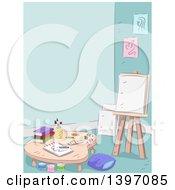 Poster, Art Print Of Sketched Art Room Interior
