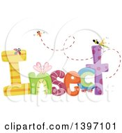 Clipart Of A Colorful Insect Word With Bugs Royalty Free Vector Illustration by BNP Design Studio