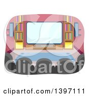 Clipart Of A Home Theater Room Royalty Free Vector Illustration by BNP Design Studio