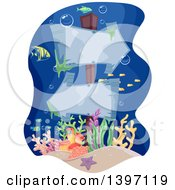 Clipart Of Arrow Signs Underwater Royalty Free Vector Illustration