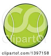 Clipart Of A Cartoon Tennis Ball Royalty Free Vector Illustration by Hit Toon