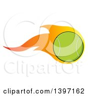 Clipart Of A Flaming Tennis Ball Royalty Free Vector Illustration by Hit Toon
