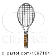 Clipart Of A Tennis Racket Royalty Free Vector Illustration