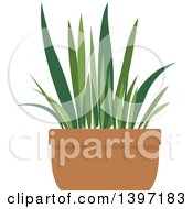 Clipart Of A Potted Plant Royalty Free Vector Illustration